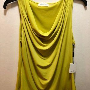 Two Calvin Klein Sleeveless Blouses